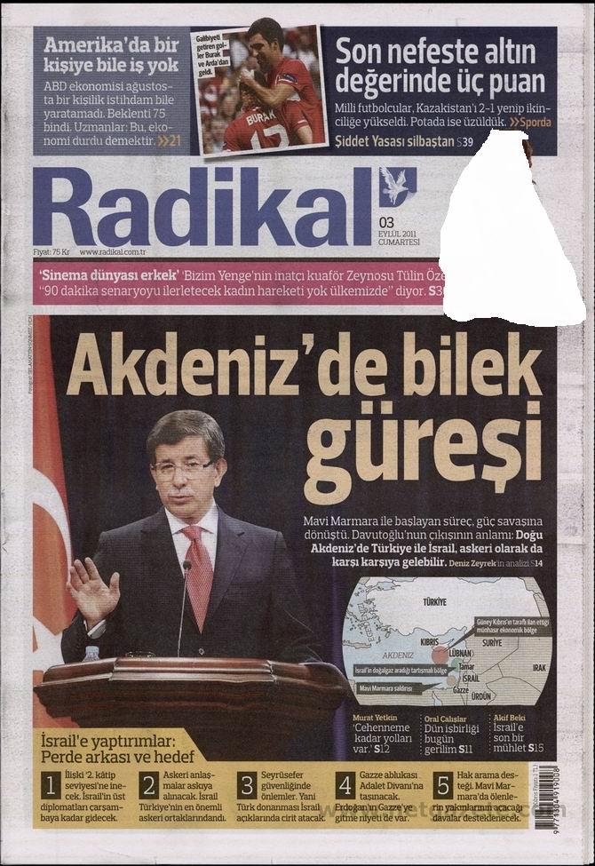 3 Eylül 2011 Gazete Manşetleri 12