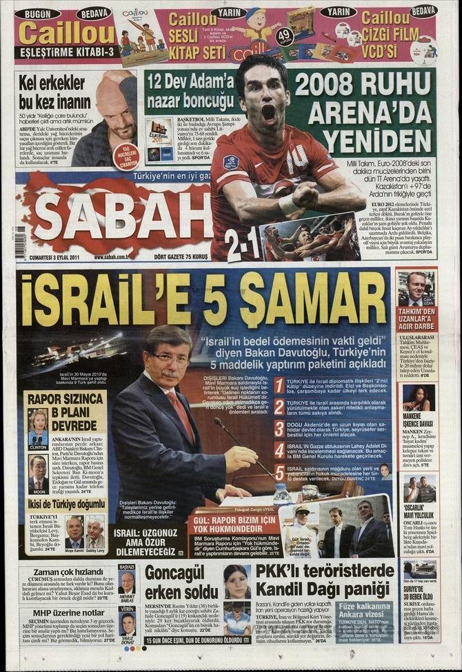 3 Eylül 2011 Gazete Manşetleri 13