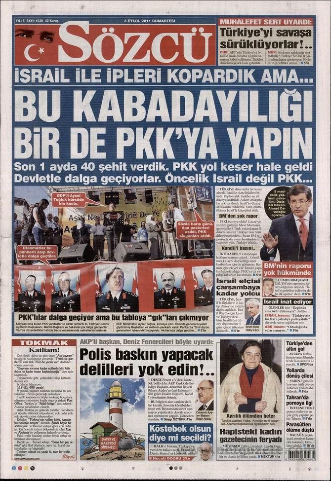 3 Eylül 2011 Gazete Manşetleri 14