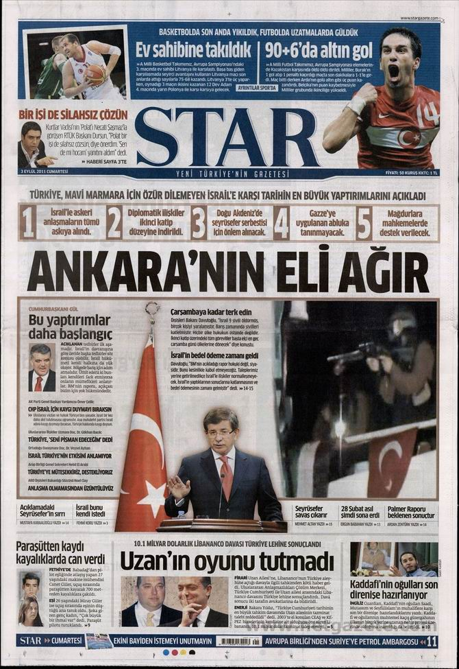 3 Eylül 2011 Gazete Manşetleri 15