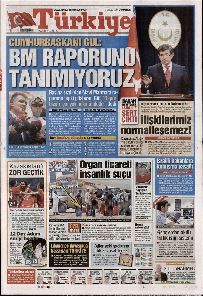 3 Eylül 2011 Gazete Manşetleri 17