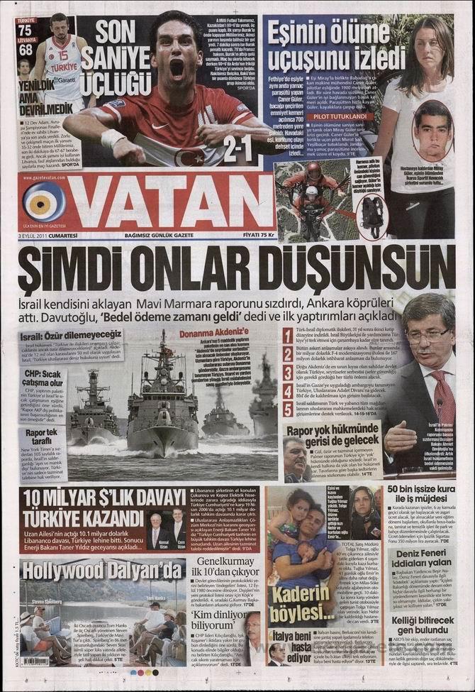 3 Eylül 2011 Gazete Manşetleri 18