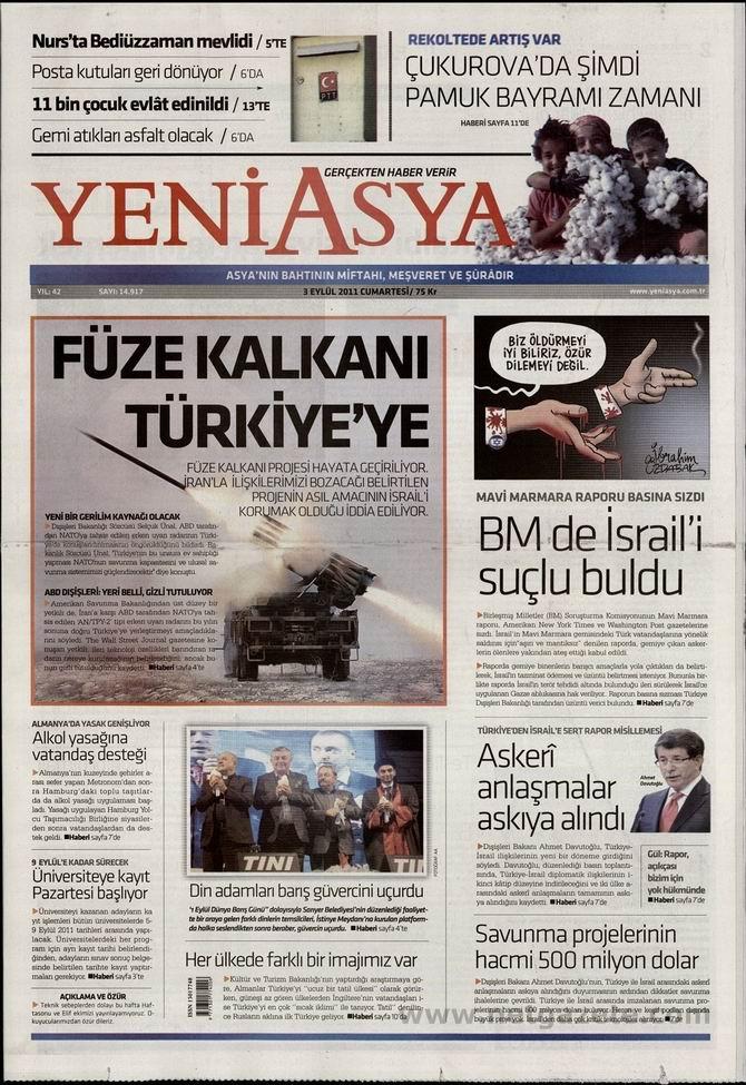 3 Eylül 2011 Gazete Manşetleri 19