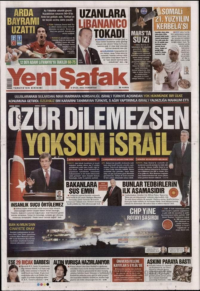 3 Eylül 2011 Gazete Manşetleri 20