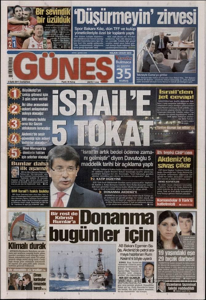 3 Eylül 2011 Gazete Manşetleri 6