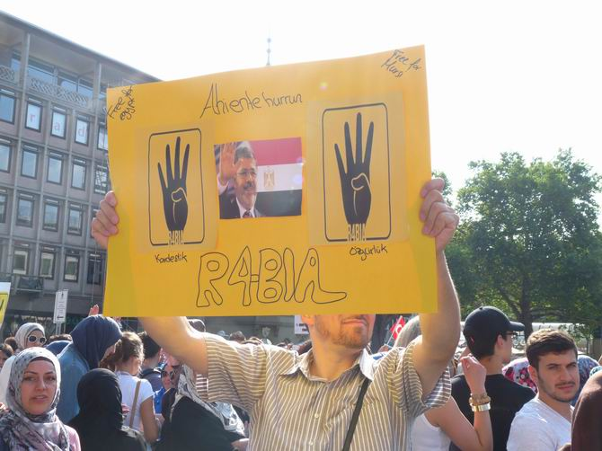 Almanya'da Mısır ve Suriye Direnişine Destek Eylemleri 1