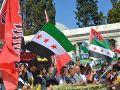 Fatih Camiinde Mısır ve Suriye Eylemi Yapıldı