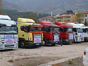 Amasya'dan Suriye'ye Tonlarca Yardım