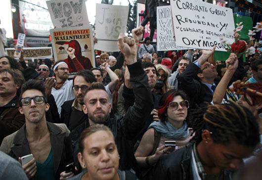 Wall Streeti İşgal Et Ateşi Batıyı Sarıyor 15