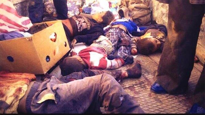 Iraklı Milisler, Suriyeli Çocukları Katletti 1