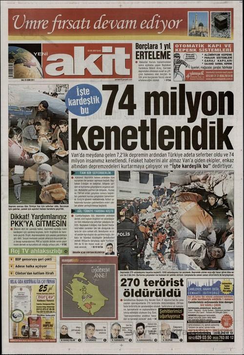 Gazete Manşetleri - 25 Ekim 2011 1