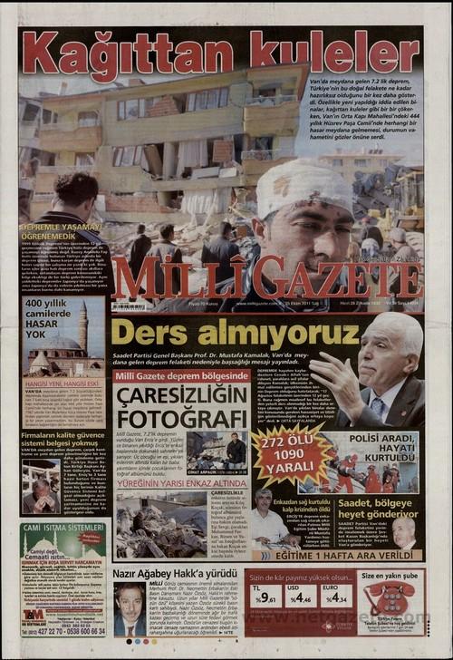 Gazete Manşetleri - 25 Ekim 2011 10