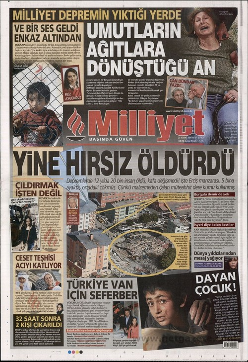 Gazete Manşetleri - 25 Ekim 2011 11