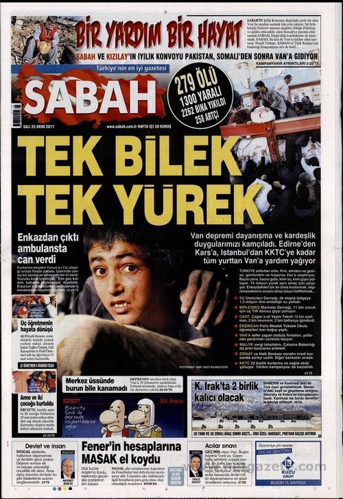 Gazete Manşetleri - 25 Ekim 2011 14