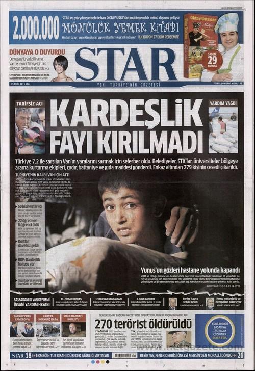 Gazete Manşetleri - 25 Ekim 2011 15
