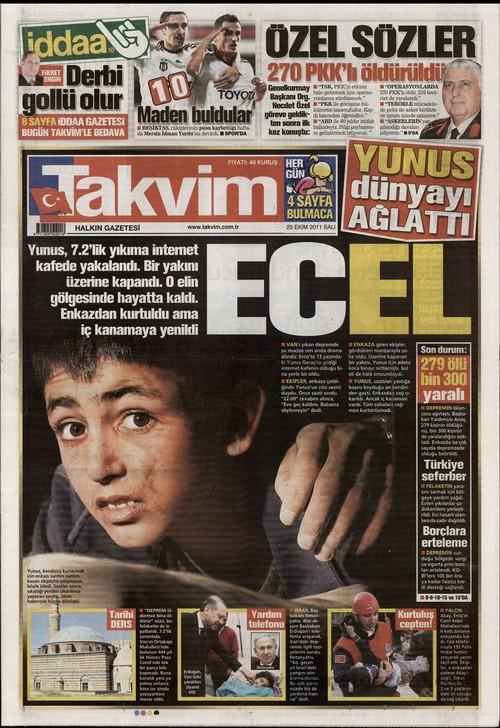 Gazete Manşetleri - 25 Ekim 2011 16