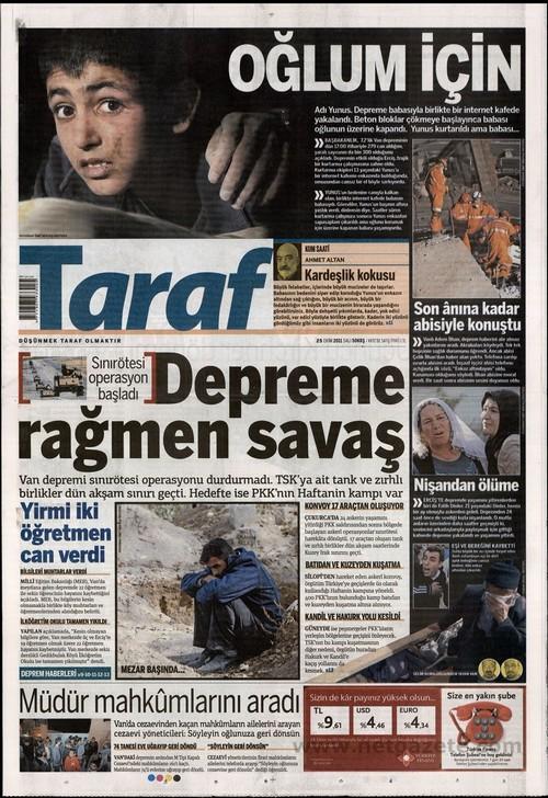 Gazete Manşetleri - 25 Ekim 2011 17