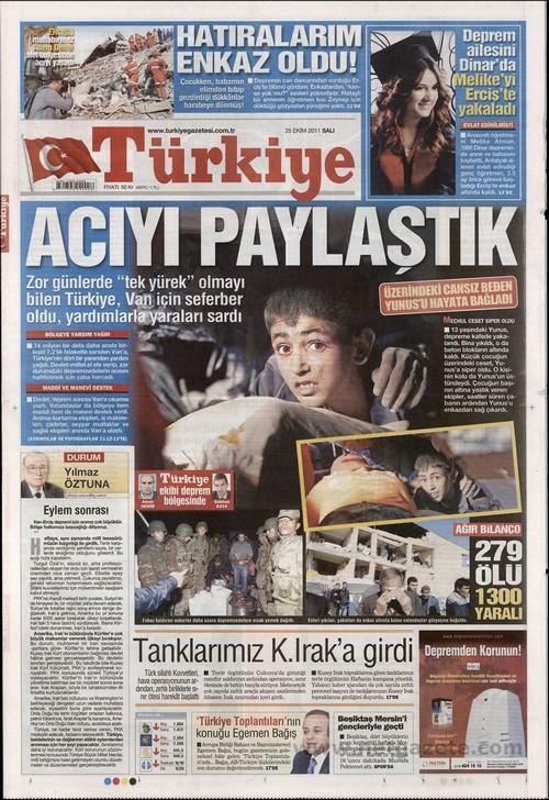 Gazete Manşetleri - 25 Ekim 2011 18