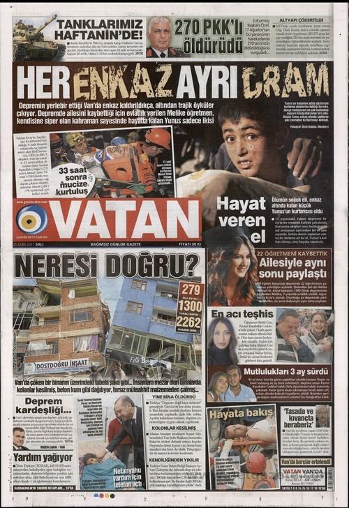 Gazete Manşetleri - 25 Ekim 2011 19