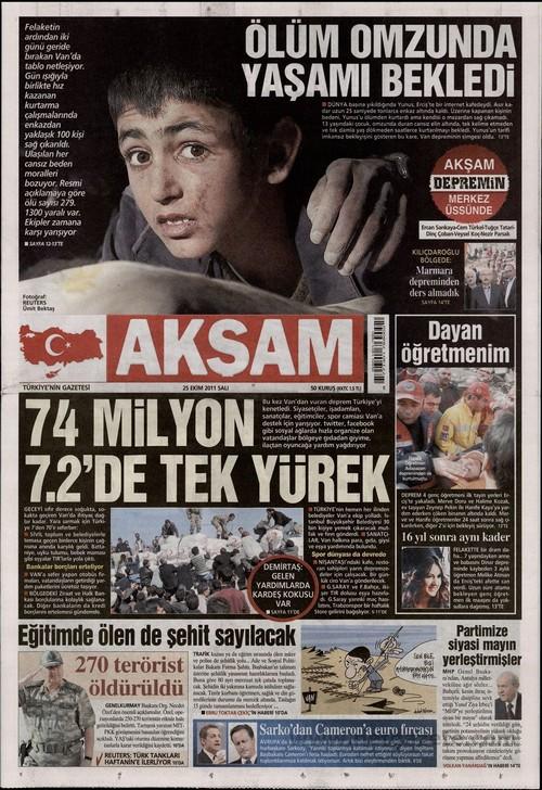 Gazete Manşetleri - 25 Ekim 2011 2
