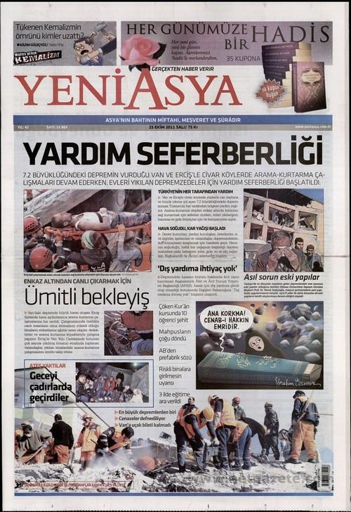 Gazete Manşetleri - 25 Ekim 2011 20