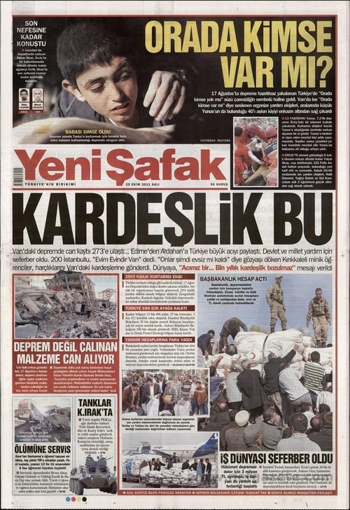 Gazete Manşetleri - 25 Ekim 2011 21