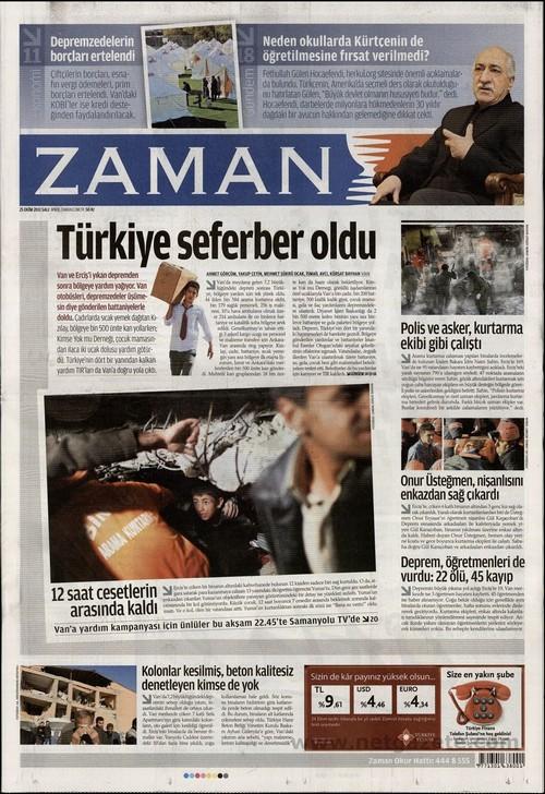Gazete Manşetleri - 25 Ekim 2011 22