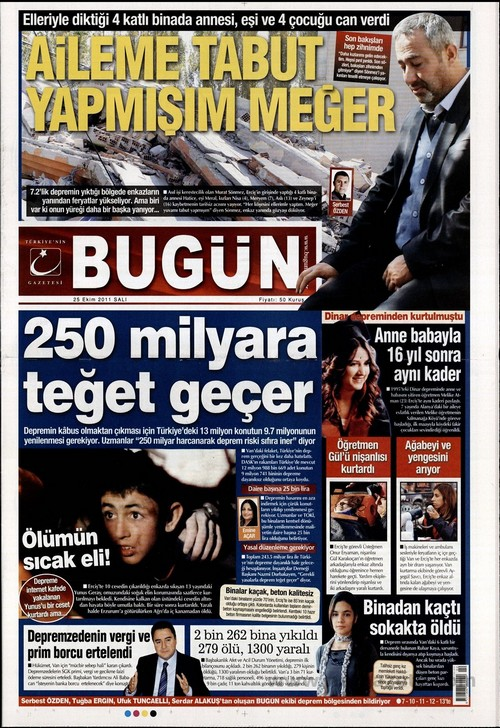 Gazete Manşetleri - 25 Ekim 2011 4