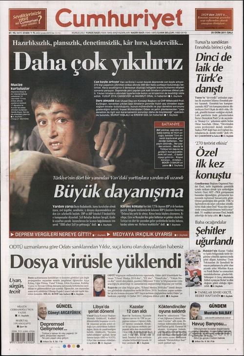 Gazete Manşetleri - 25 Ekim 2011 5