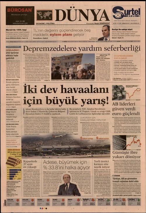 Gazete Manşetleri - 25 Ekim 2011 6