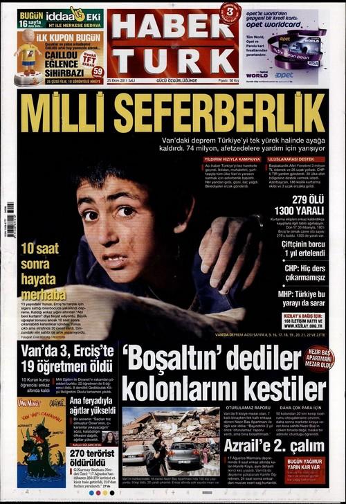 Gazete Manşetleri - 25 Ekim 2011 8