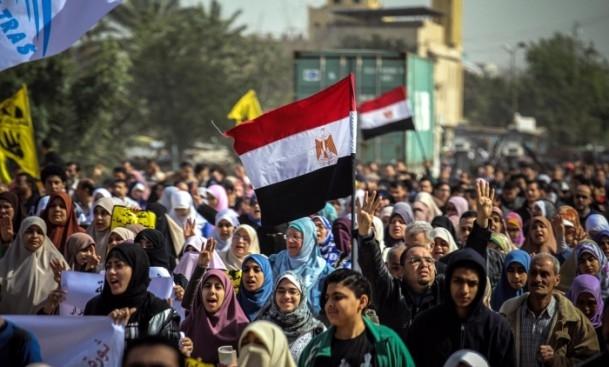 """Mısır'da """"Rabia Devrimin Sembolü"""" gösterileri galerisi resim 1"""