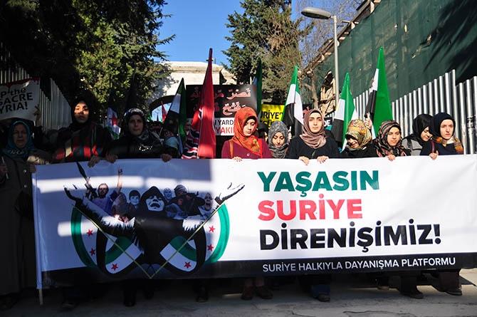 3 Yıldır Direnen Suriye İçin Fatih'te Yürüyüş 1