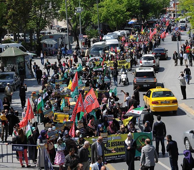 Şehzadebaşı'ndan Beyazıt'a Mısır'a Destek Yürüyüşü 1