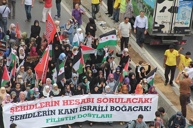 Fatih'te Binlerce Kişi Gazze Direnişini Selamladı 1