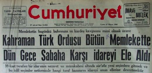 12 Eylül Darbesi Gazete Manşetleri 2