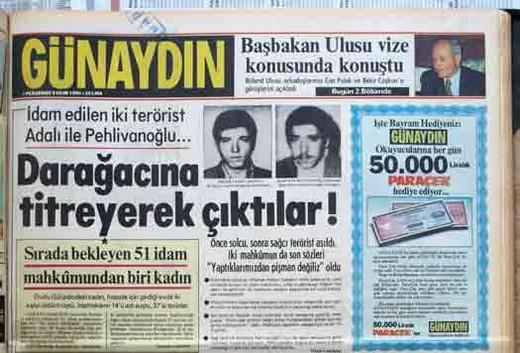 12 Eylül Darbesi Gazete Manşetleri 4