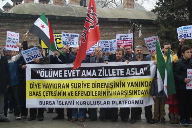 Bursa'da Suriye İntifadası Selamlandı 1