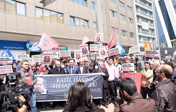 Kamaruzzaman'ın İdamı İstanbul'da Protesto Edildi 1