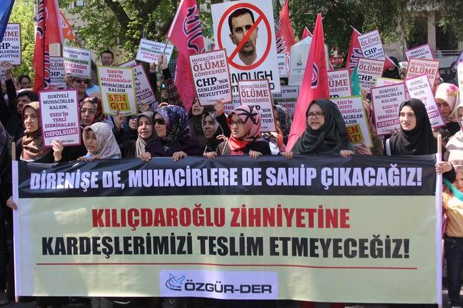 Kılıçdaroğlu'nun Muhacirlere Yönelik Irkçı Sözleri Protesto Edildi galerisi resim 1