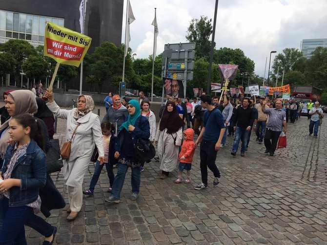 Almanya'da Katil Sisi'ye Lanet, İhvan'a Destek Yürüyüşü 1