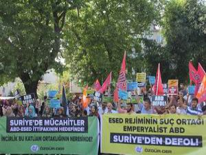 ABD'nin Suriye'deki Saldırıları Protesto Edildi