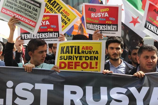 Rusya'nın Suriye Müdahalesi Protesto Edildi 1