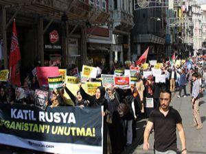 Rusya'nın Suriye Müdahalesi Protesto Edildi