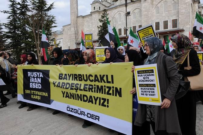 Rus Zulmüne İstanbul'da Protesto 1