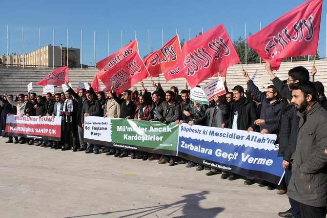 Solcu Çeteler Erzurum ve Bursa'da Protesto Edildi galerisi resim 1