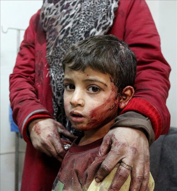 Rus Jetleri Şam'da Yerleşim Yerini Bombaladı 1