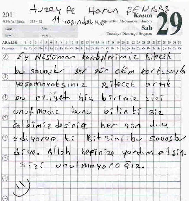 Sivaslı Çocuklardan Suriyeli Kardeşlerine Mektup! 1