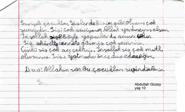 Sivaslı Çocuklardan Suriyeli Kardeşlerine Mektup! 11