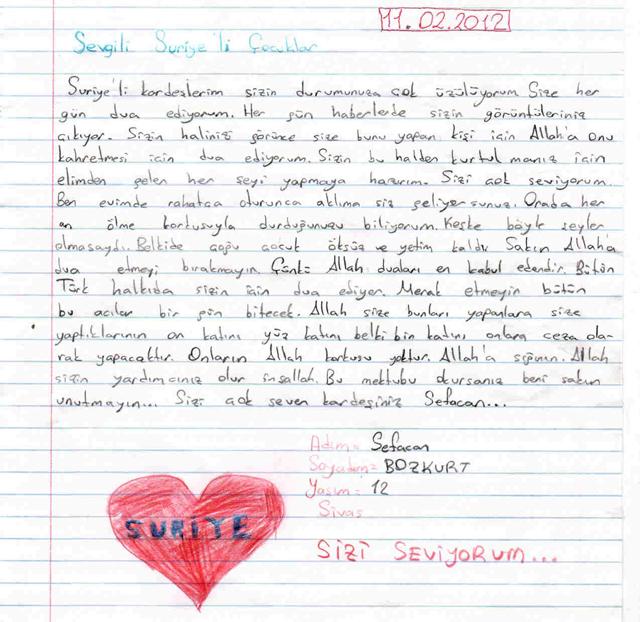 Sivaslı Çocuklardan Suriyeli Kardeşlerine Mektup! 12